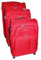 Чемодан Suitcase на двух колесах красный маленький