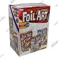 FOIL ART 10шт Большой комплект аппликаций фольгой по номерам, фото 1