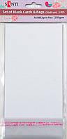 Набор белых перламутровых заготовок для открыток, 10см*20см, 250г/м2, 5шт.   952260