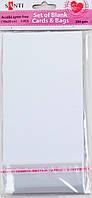 Набор белых текстурированных заготовок для открыток, 10см*20см, 250г/м2, 5шт.   952230