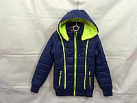 Куртка подростковая для девочки демисезонная 8-12 лет, темно синяя