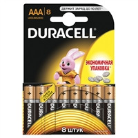Батарейки DURACELL LR03 1x8
