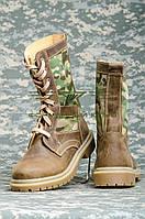 Берцы НАТО нубук койот, со вставками ткани мультикам 36, 37р, фото 1
