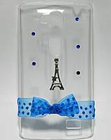 Чехол на LG L Fino D295 накладка ручной работы, Подарок из Парижа