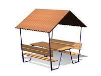 Навес со столом и скамейками (DIO-216)