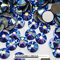Стразы стекло, ss3 Sapphire AB, 1440 шт, аналог Swarovski