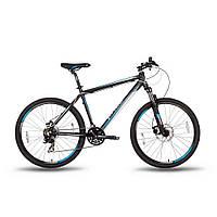 "Велосипед 26'' PRIDE XC-26MD рама - 19"" черно-синий матовый 2016"