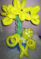 Букет из шариков Лилия с Осьминогом на День рождения