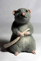 Валяная игрушка Крыс