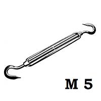 Талреп крюк-крюк с открытой муфтой, DIN 1480, резьба м5