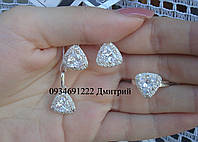 Набор Треугольники серебро 925