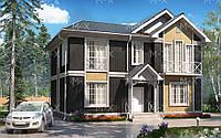 MX9. Двухэтажный просторный дом в классическом стиле, фото 1