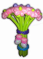 Букет из шариков Ромашки с пинетками на Выписку
