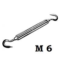 Талреп крюк-крюк с открытой муфтой, DIN 1480, резьба м6