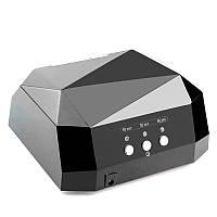 Лампа для ногтей LED CCFL 36W черная (сенсорная)