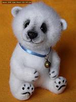 Валяная игрушка Белый медведь