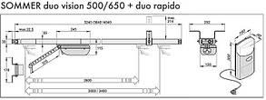 Привід для воріт Sommer DUO Vision 650 Rapido, фото 2
