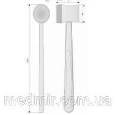 ОХ 4-127 Молоток хирургический металлический со съемной резиновой накладкой.