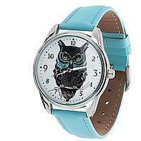 Наручные часы «Филин» голубой