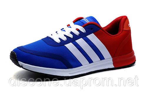 Кроссовки мужские Adidas, текстиль, сине-красные