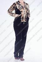 Спортивный велюровый костюм (батал)