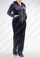Велюровый красивый женский костюм (батал)