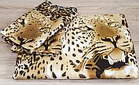 Постельное белье Angel Леопард шелк евро размера