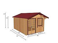 Строительство деревянных домов из профилированного бруса 3х4, фото 1