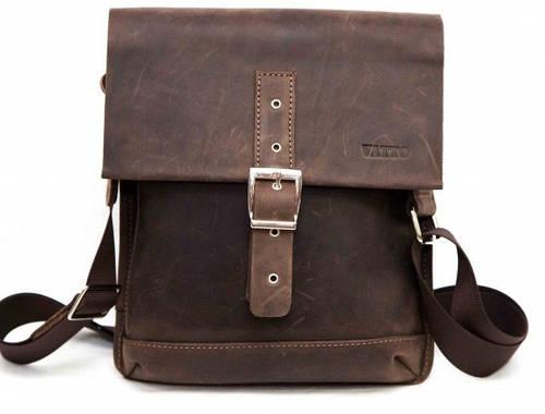 Мужская прочная сумка из натуральной кожи VATTO MK29Kr450 коричневая