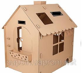 Домик детский игровой Sweet Home 145*110*135 из прочного экокартона
