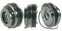Шкив компрессора кондиционера в сборе DENSO 10PA17C Iveco/Fiat 110mm/4pk 12V
