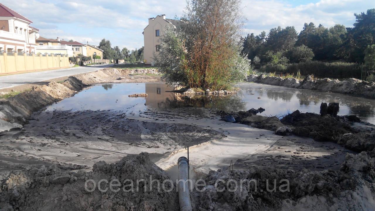 Намыв грунта очистка озер