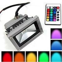 Прожектор светодиодный 10W-RGB