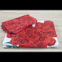 Постельное белье Angel Букет Роз шелк евро размера