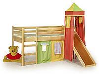 Кровать детская с горкой Flo Сосна