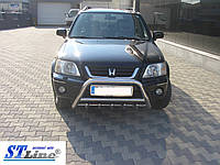 Honda CRV 1996-2001 гг. Кенгурятник WT003 нерж.)