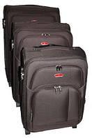 Чемодан Suitcase на двух колесах коричневый большой