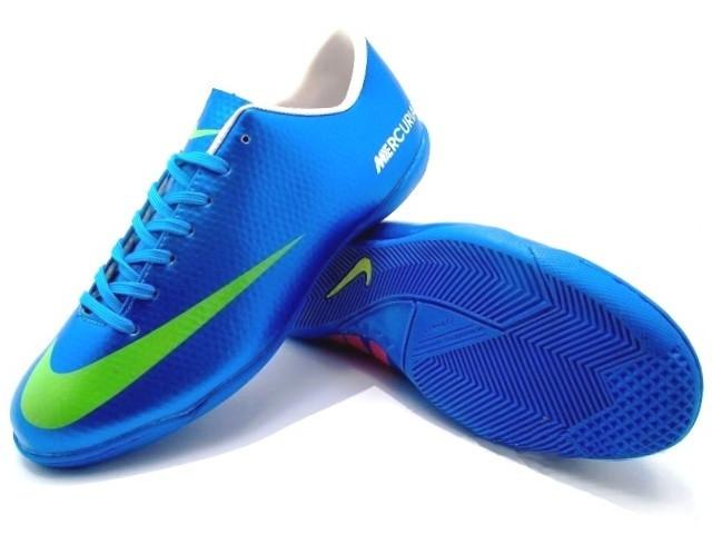 470a31ce Футзалки (бампы) Nike Mercurial Victory IV IC Blue/Volt - Интернет-магазин
