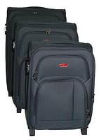 Чемодан Suitcase на двух колесах серый большой