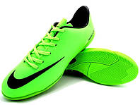 Футзалки (бампы) Nike Mercurial Victory IV IC Neo Lime/Black, фото 1