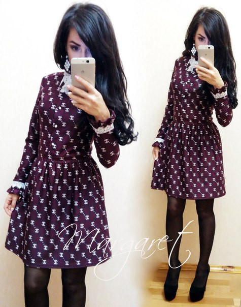 """Модное стильное платье """"CHANEL"""" в разных цветах. Артикул SM13 - Shoppingood в Харькове"""