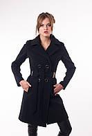 Стильное женское демисезонное пальто Тур-7 двубортное.