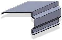 Планка торцевая (ветровая планка под металлочерепицу, профнастил, шифер) покрытие RAL и Zn