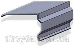Торцевая планка (ветровая планка под металлочерепицу, профнастил, шифер) покрытие RAL и Zn