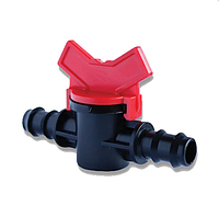 Кран проходной для 20 трубки капельного полива Presto-PS МV 0120 (50 шт в уп.)