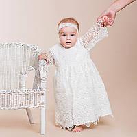 Нарядное платье Глория (Глафира) от Miminobaby молочное на 2 годика