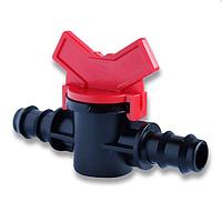 Кран проходной/простой для многолетней 16 трубки капельного полива Presto-PS МV 0116 (50 шт в уп.)