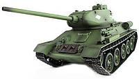 Танк р/у 1:16 Heng Long T-34 2.4GHz в металле с пневмопушкой и дымом (HL3909-1PRO) *х