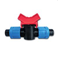 Кран проходной/соединительный для ленты капельного полива Presto-PS LV 0117 (50 шт в уп.)
