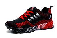 Кроссовки унисекс, черно-красные, фото 1